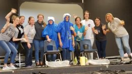 teachers on stage after slime relay